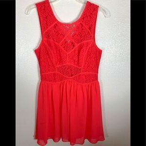 BCBG Red Orange Dress